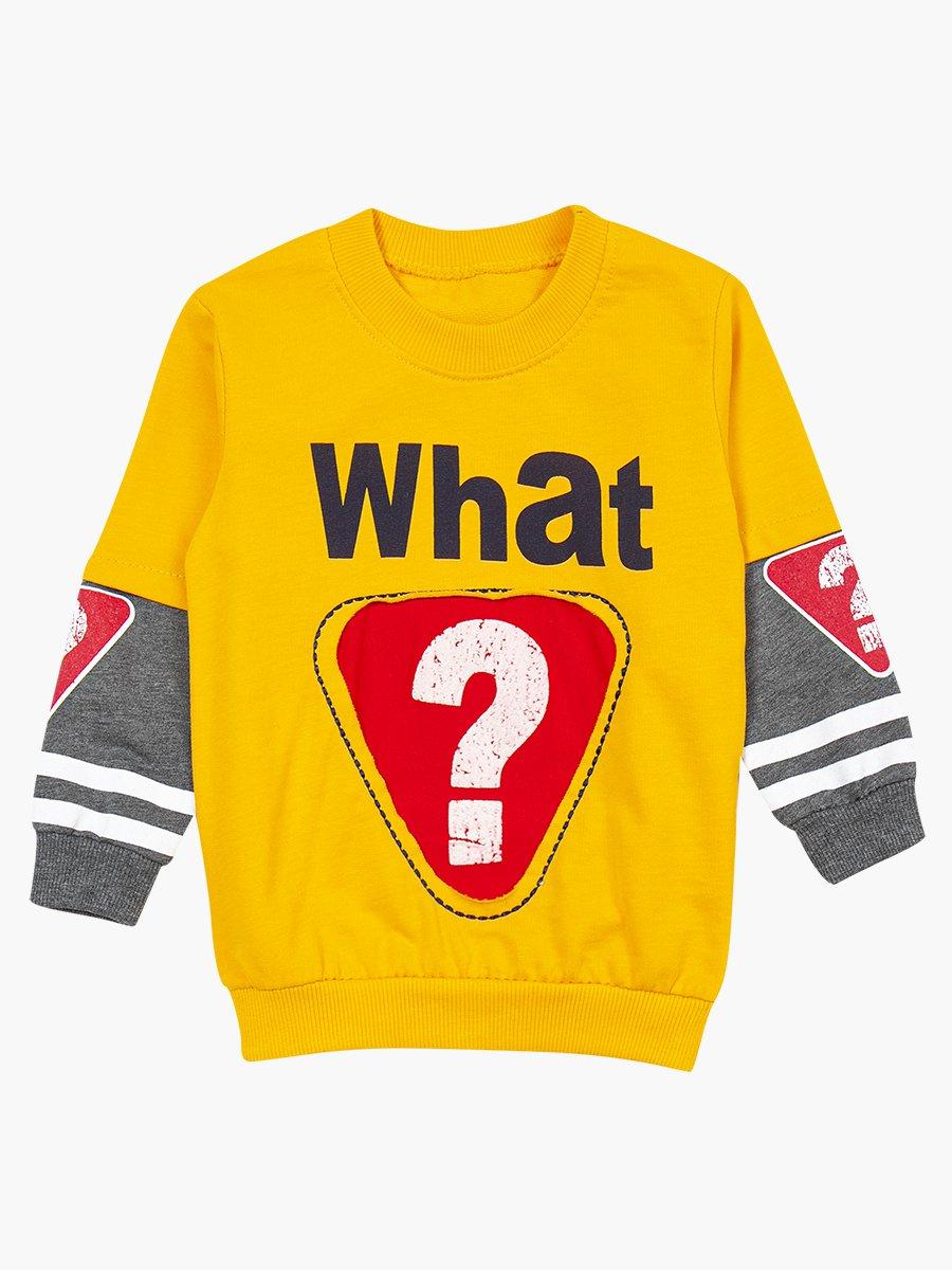 Комплект для мальчика: свитшот и штанишки, цвет: желтый
