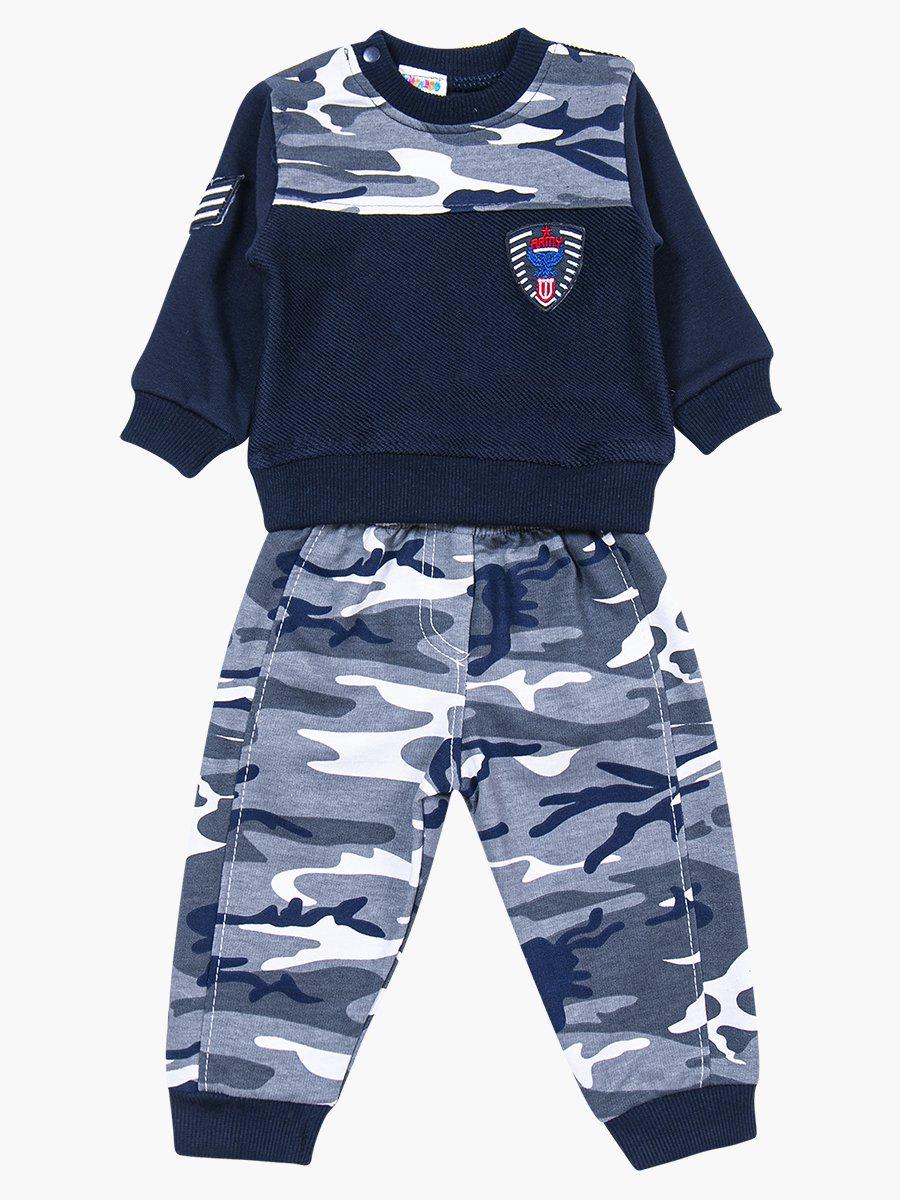 Комплект для мальчика: толстовка и штанишки, цвет: темно-синий