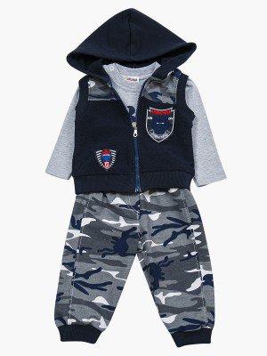 Комплект для мальчика: лонгслив, жилет и штанишки
