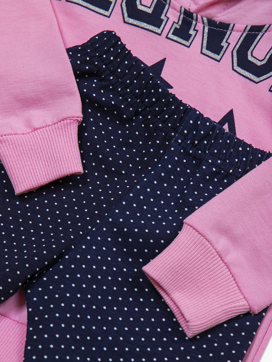 Комплект для девочки: толстовка и лосины, цвет: светло-розовый