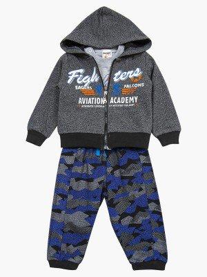 Комплект для мальчика: лонгслив, толстовка и штанишки