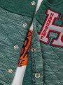 Комплект для мальчика: лонгслив, толстовка и штанишки, цвет: зеленый лес