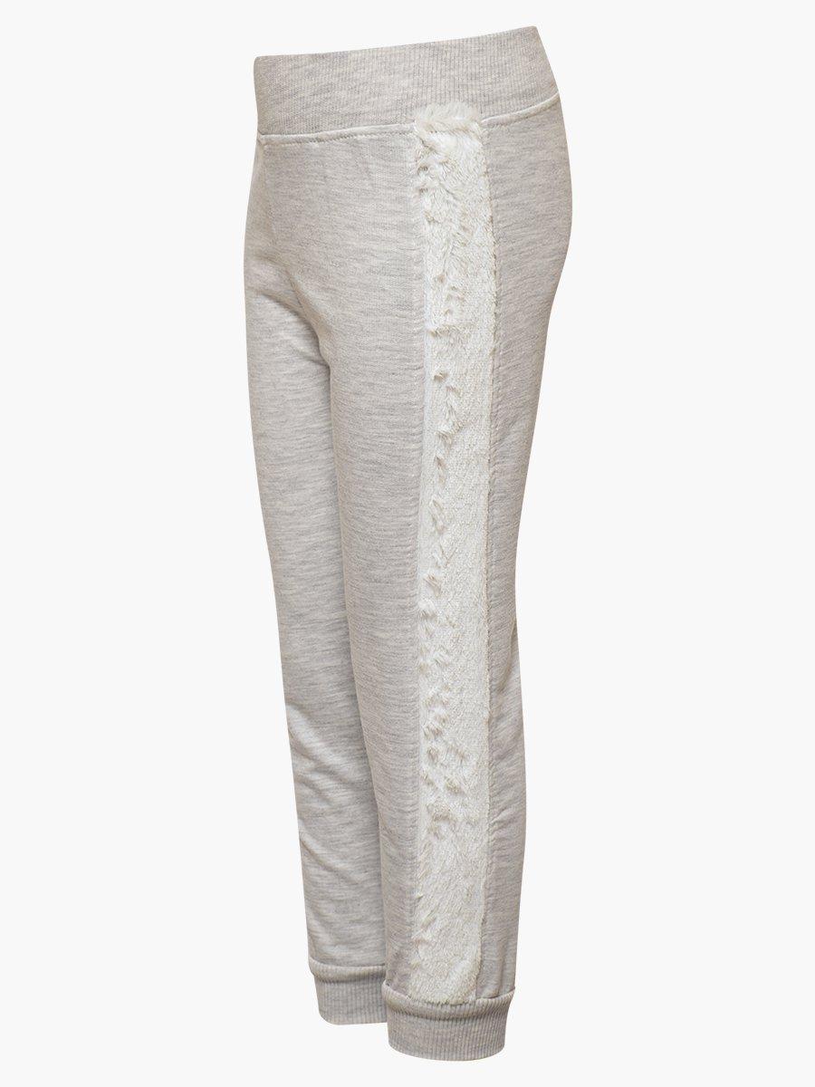 Комплект для девочки: толстовка и штанишки, цвет: светло-серый