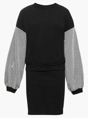 Комплект:свитшот и юбка прямого силуэта