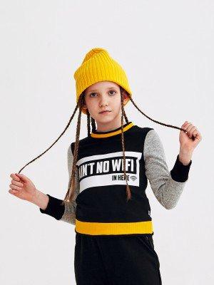 Свитшот укороченный прямого силуэта для девочки