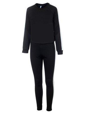 Костюм спортивный:свитшот укороченный и брюки зауженные