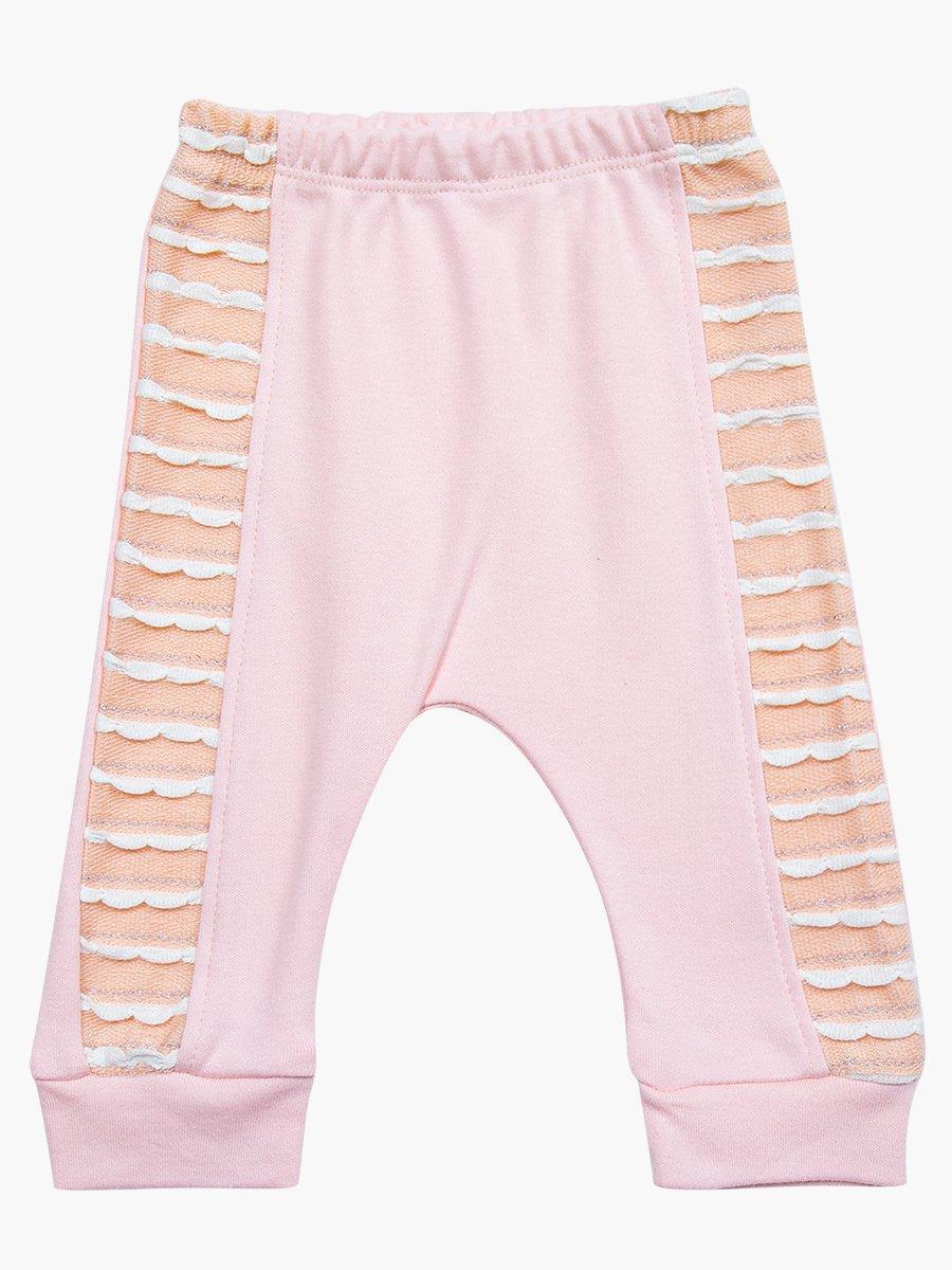 Комплект для девочки: туника, штанишки и шапочка, цвет: пудра