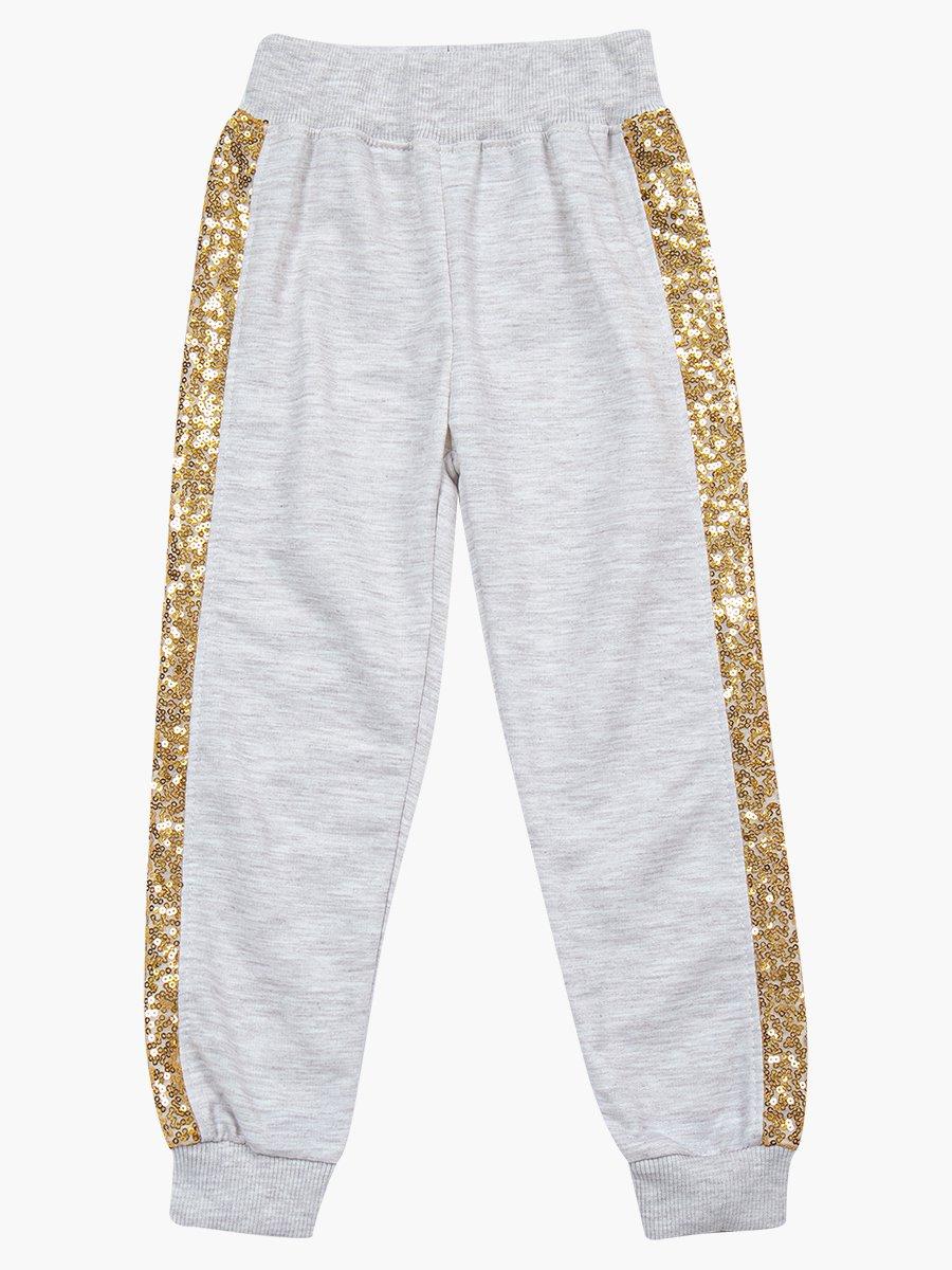 Комплект для девочки: свитшот и штанишки, цвет: светло-серый