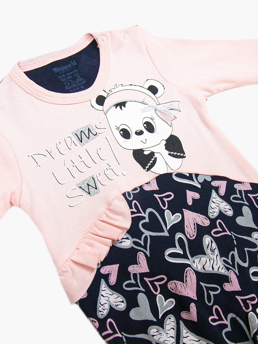 Комбинезон в комплекте с шапочкой для девочки, цвет: светло-розовый