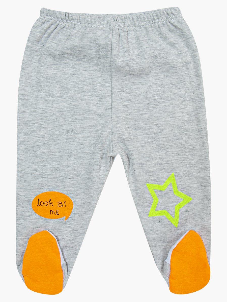 Комплект для мальчика: распашонка, ползунки и шапочка, цвет: светло-серый