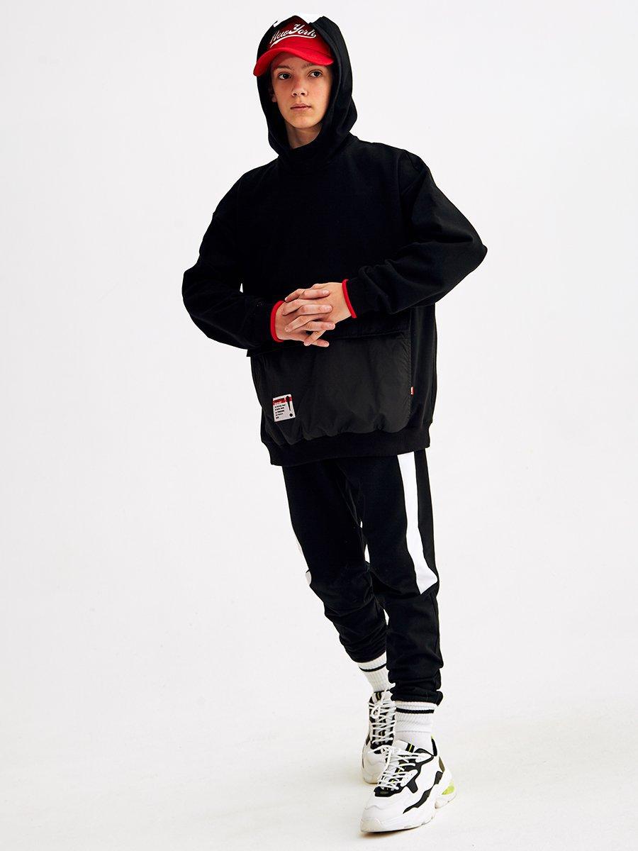 Брюки-джоггеры для мальчика, цвет: черный