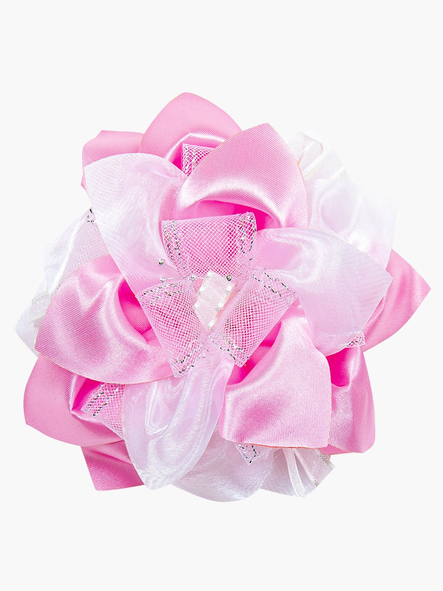 Бант школьный 12см, цвет: розовый