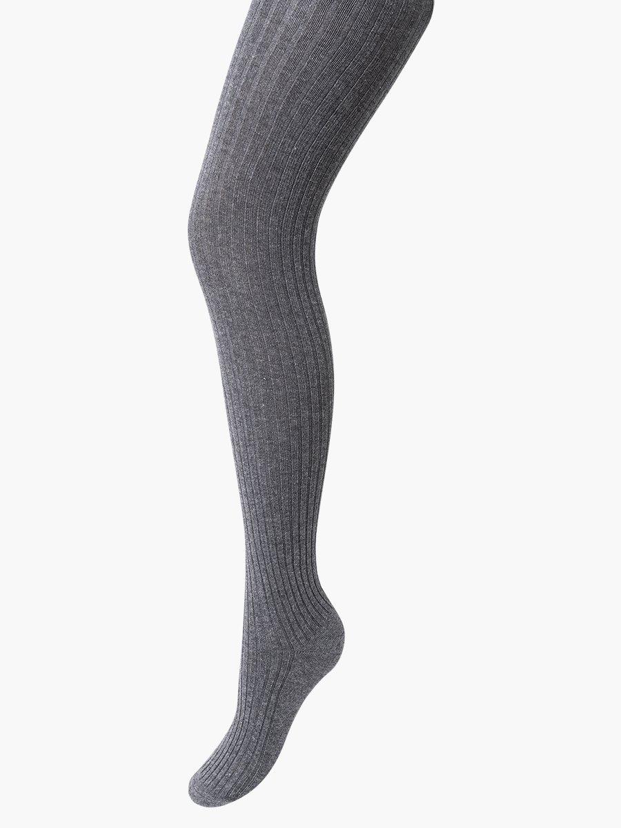 Колготки для девочки, вязка «лапша», цвет: темно-серый