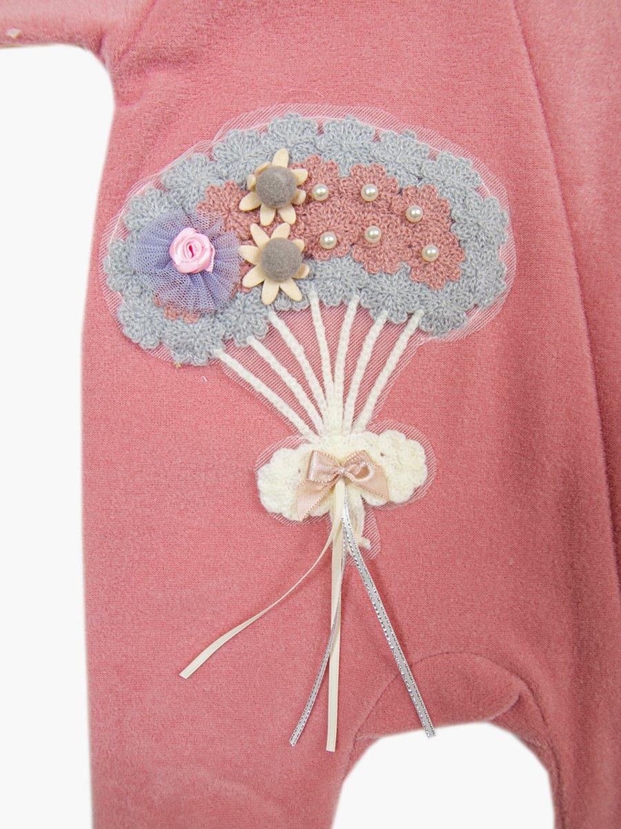 Комбинезон флисовый для девочки, цвет: брусничный
