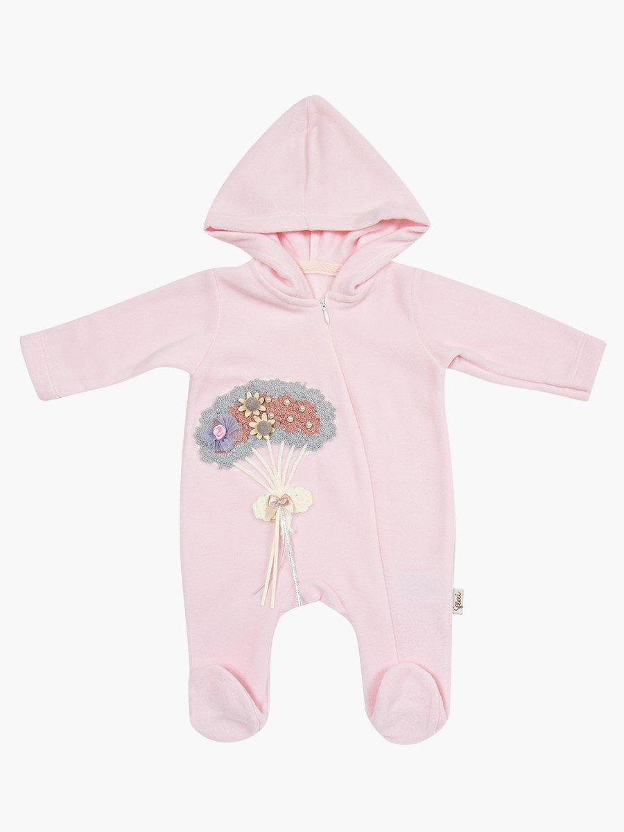 Комбинезон флисовый для девочки, цвет: светло-розовый