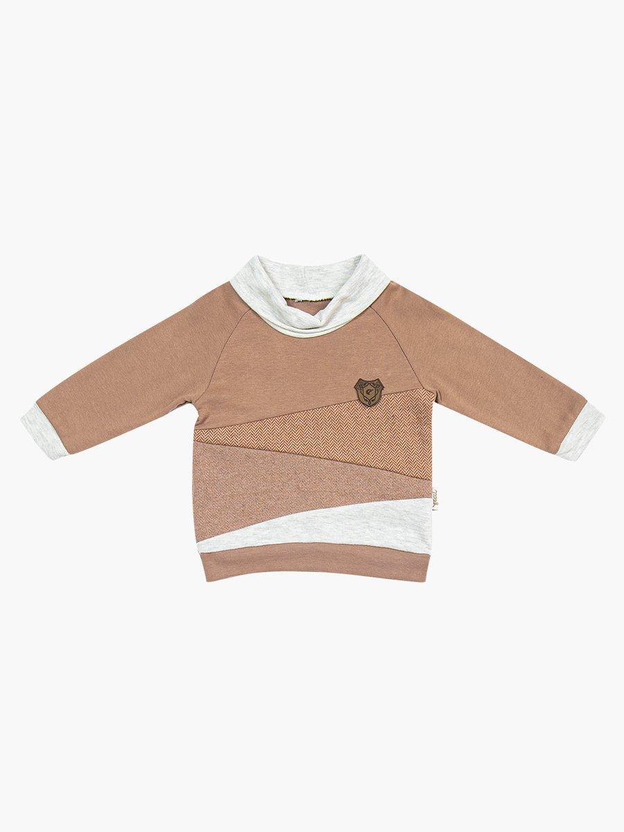 Комплект для мальчика: водолазка и штанишки, цвет: кофе с молоком