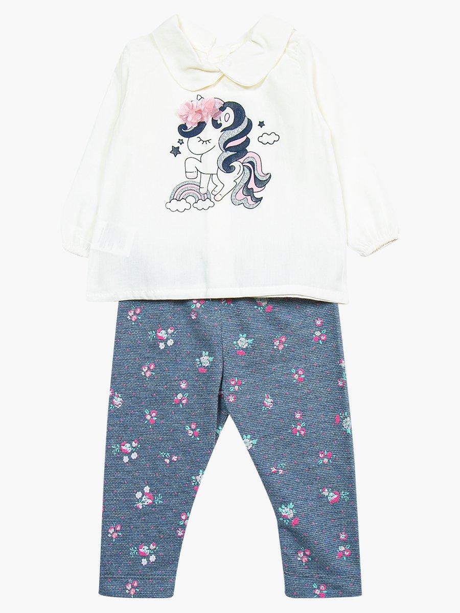 Комплект для девочки: блузка, лосины и жакет, цвет: светло-розовый