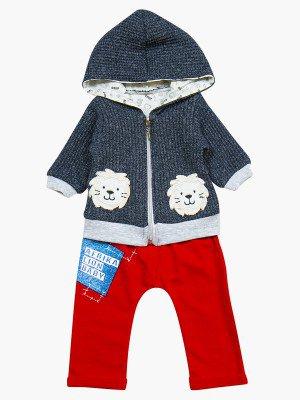 Комплект для мальчика: кофточка, штанишки и толстовка
