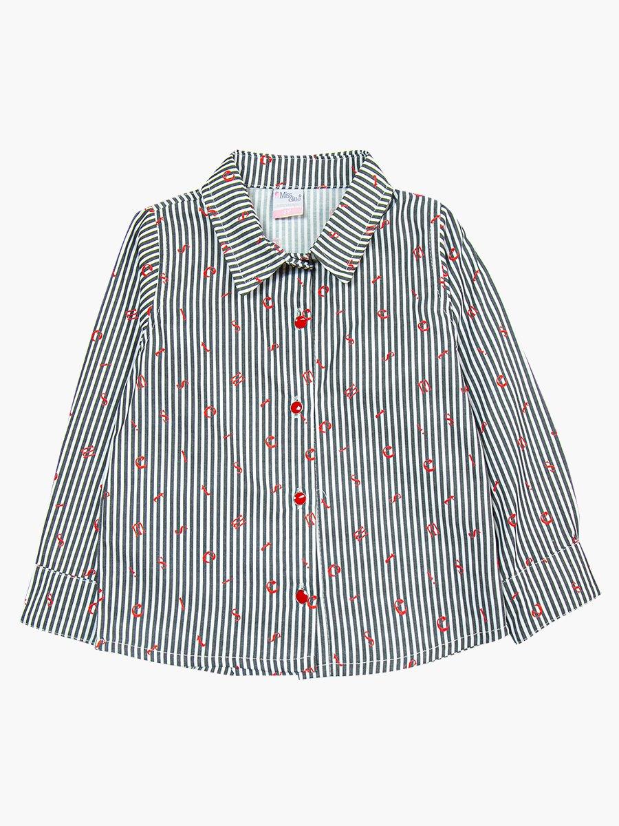 Комплект для девочки: рубашка, джемпер и джинсы с поясом, цвет: черный
