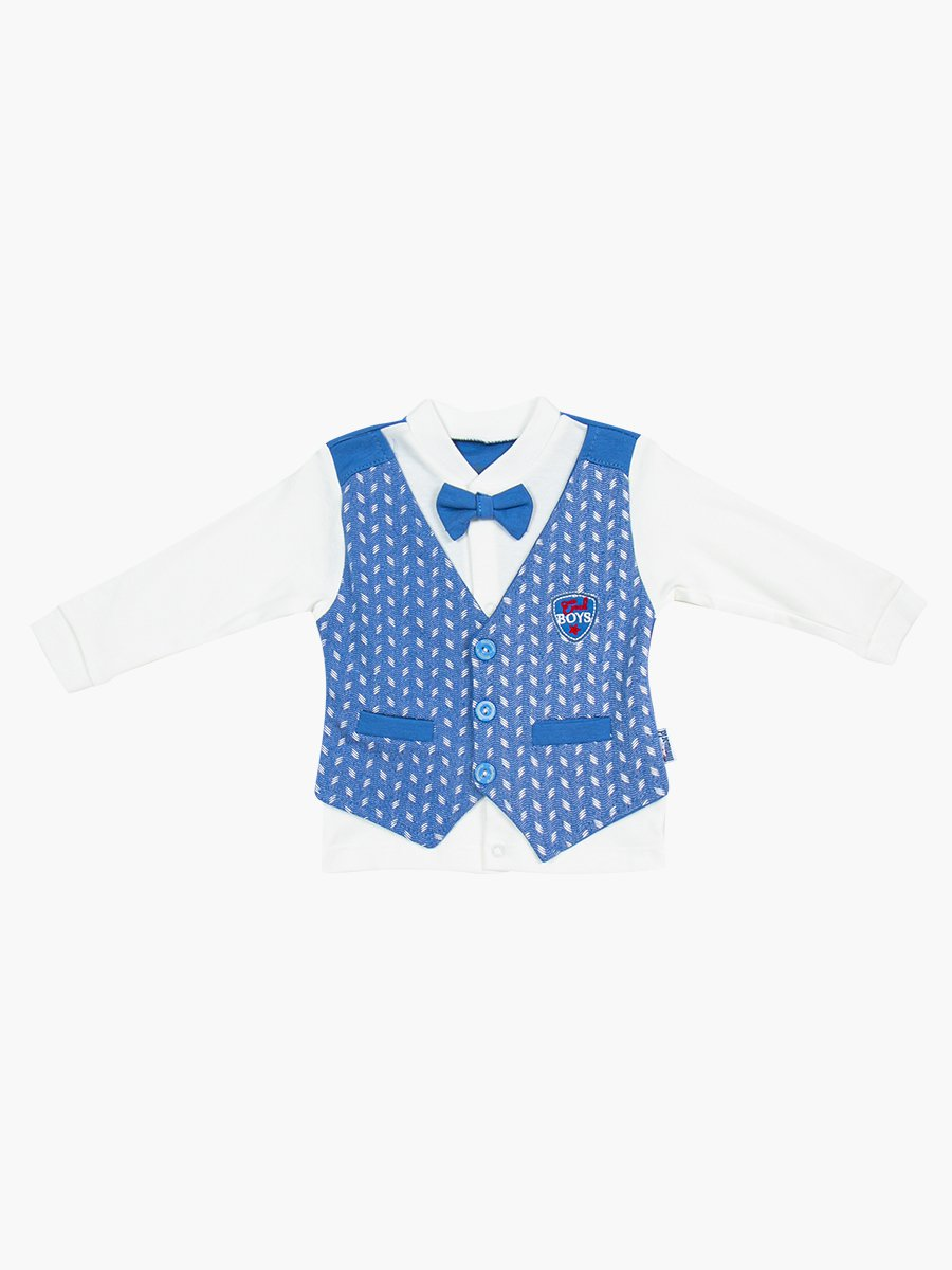 Комплект для мальчика: кофточка, штанишки и шапочка, цвет: деним