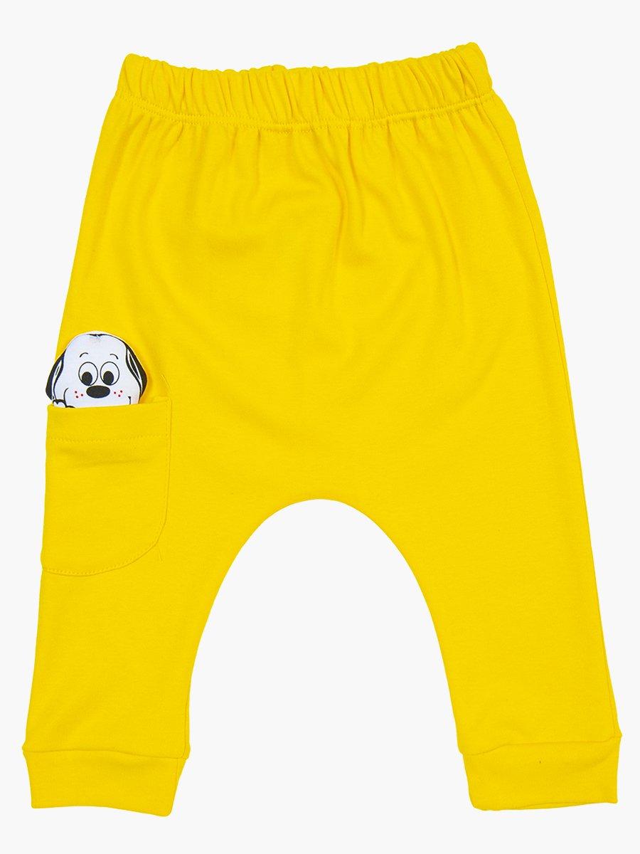 Комплект детский: боди, штанишки и шапочка, цвет: лимонный