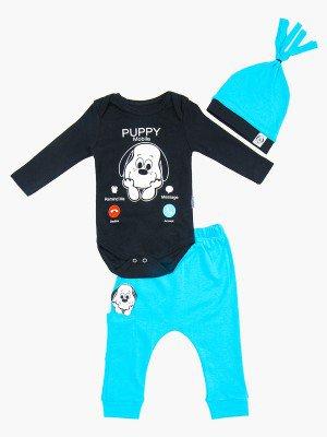 Комплект детский: боди, штанишки и шапочка