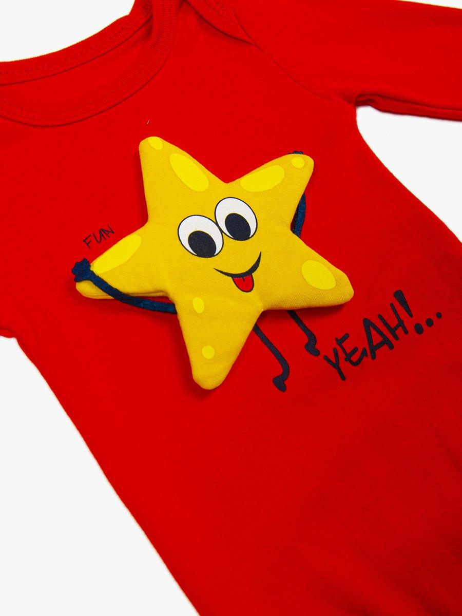 Комплект детский: боди, штанишки и шапочка, цвет: красный