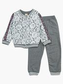 Комплект для девочки: толстовка и штанишки