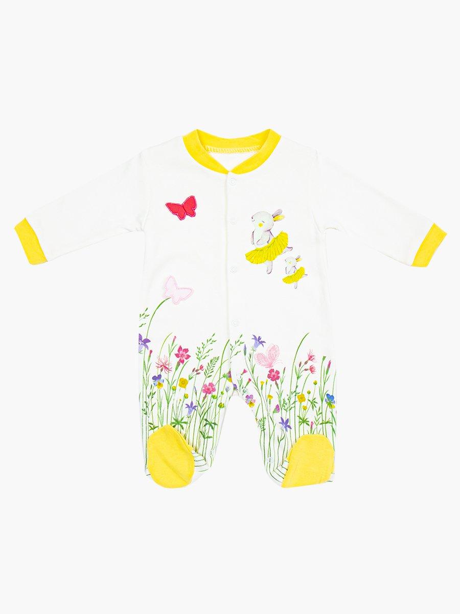 Комбинезон для девочки, цвет: желтый
