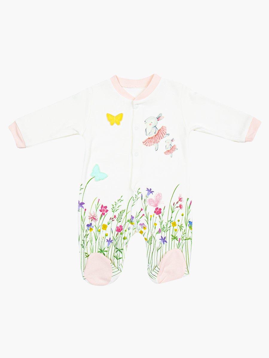 Комбинезон для девочки, цвет: светло-розовый