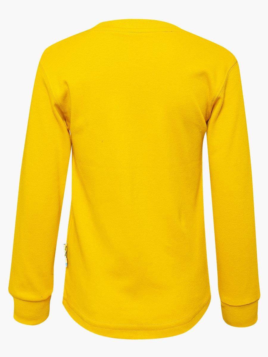 Лонгслив для мальчика, цвет: желтый