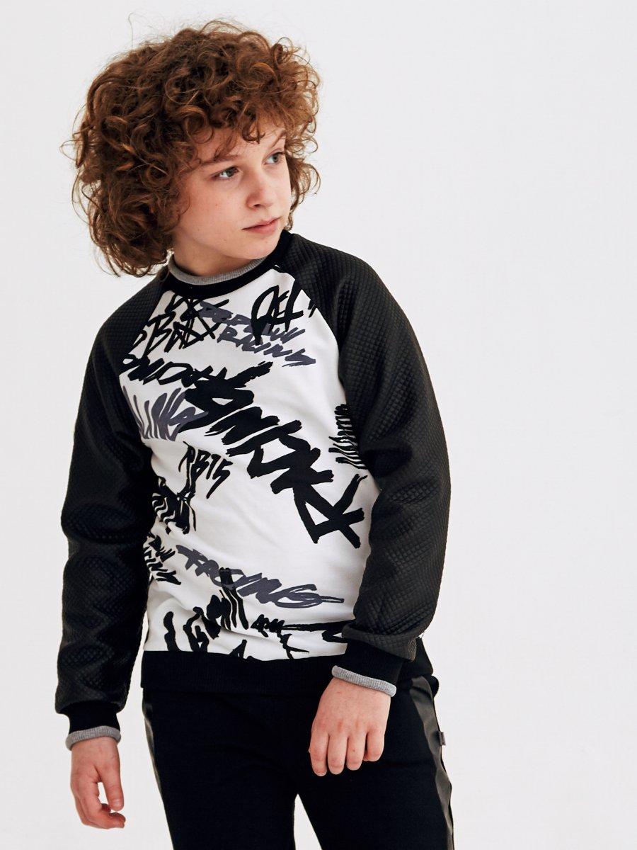 Свитшот для мальчика, цвет: черный