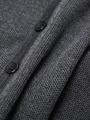 Кардиган вязаный для мальчика, цвет: темно-серый