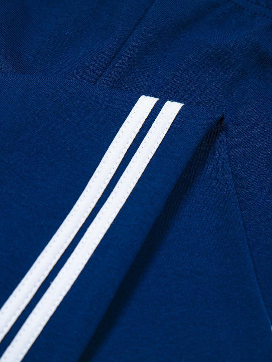 Брюки спортивные для мальчика, цвет: темно-синий