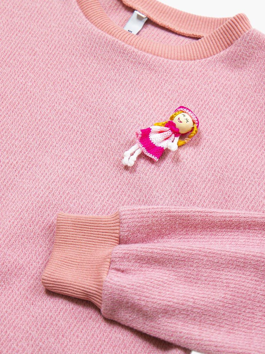 Джемпер для девочки, цвет: чайная роза