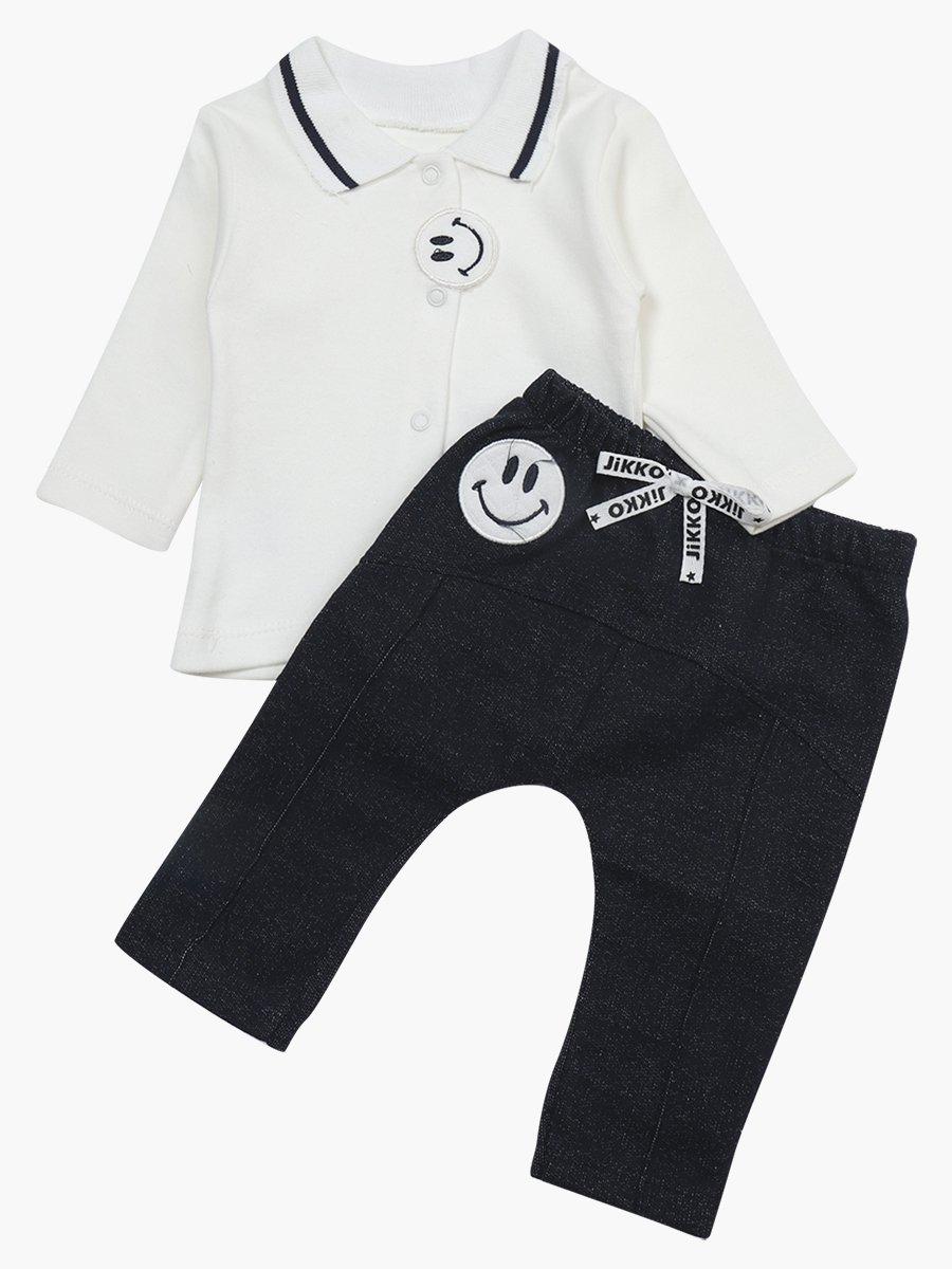 Комплект для мальчика: кофточка, штанишки и толстовка, цвет: мятный