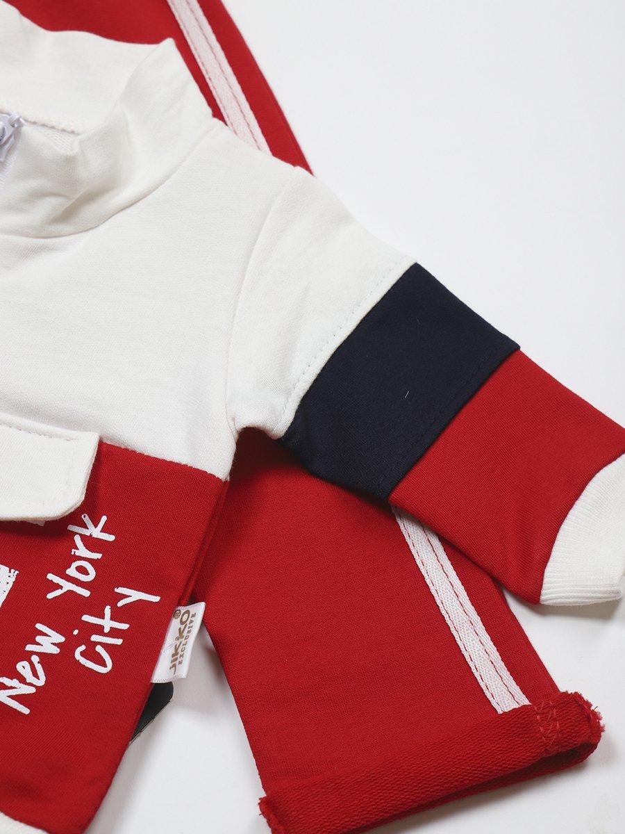 Комплект для мальчика: толстовка и штанишки, цвет: молочный