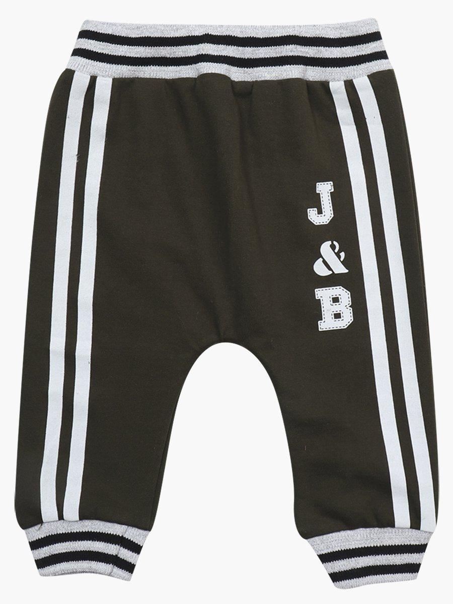 Комплект для мальчика: свитшот, штанишки и жилет на синтепоне, цвет: хаки