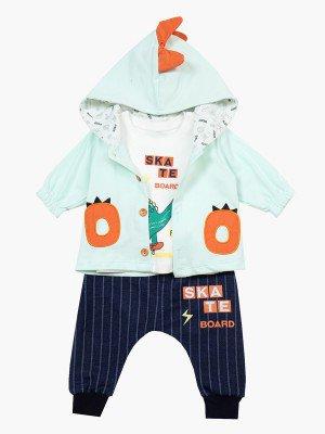 Комплект для мальчика: лонгслив, штанишки и кофточка