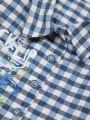 Комплект для мальчика: рубашка, штанишки и жилет на синтепоне, цвет: синий