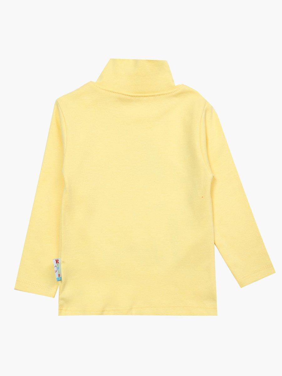 Водолазка для девочки, цвет: желтый