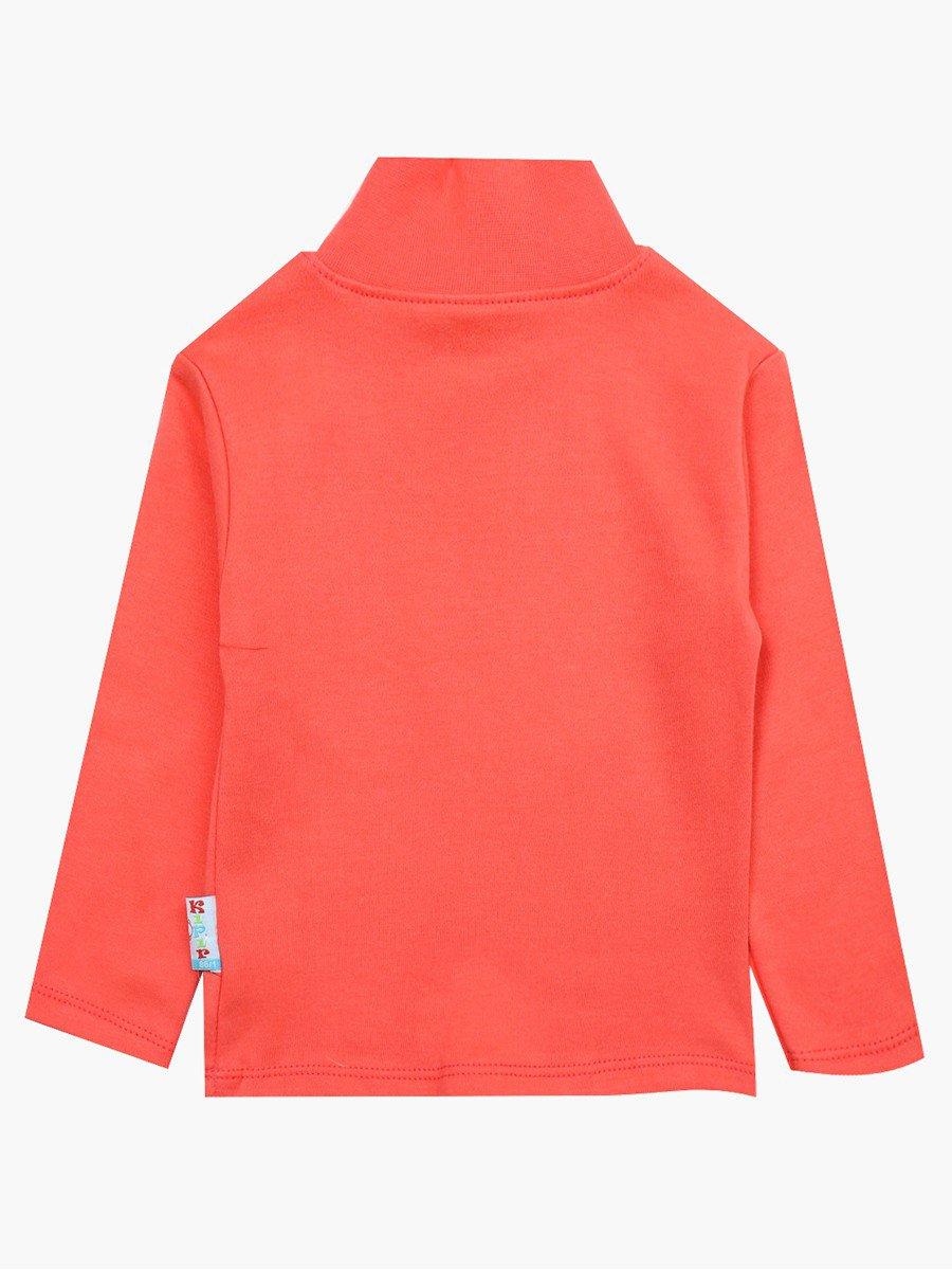 Водолазка для девочки, цвет: коралловый