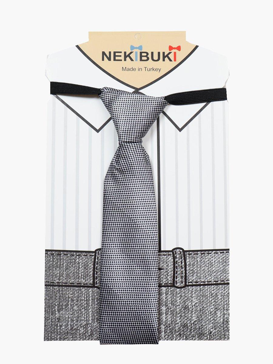Галстук для мальчика, цвет: серый