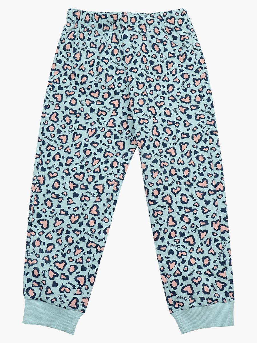 Комплект с начесом для девочки: толстовка и штанишки, цвет: мятный