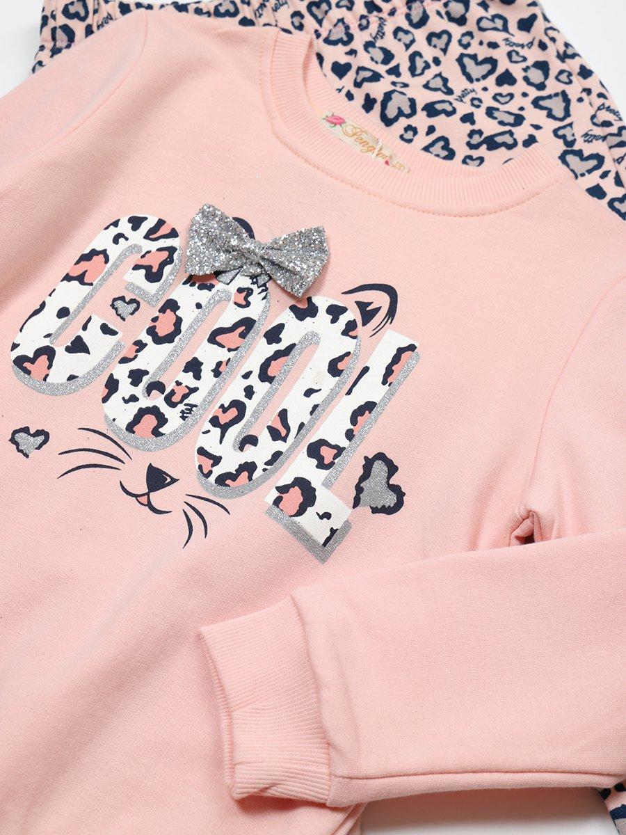 Комплект с начесом для девочки: толстовка и штанишки