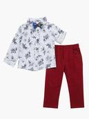 Комплект для мальчика: рубашка с бабочкой и брюки
