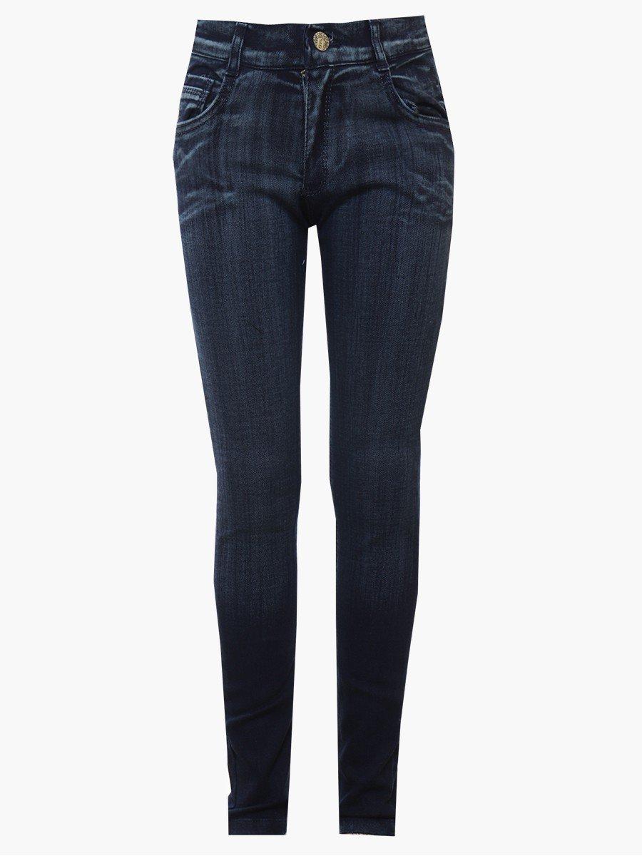 Брюки джинсовые для девочки, цвет: деним