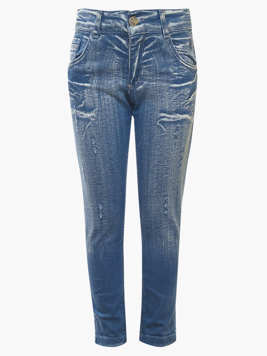 Брюки джинсовые для девочки, цвет: голубой