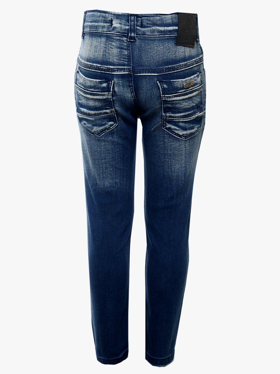 Брюки джинсовые для девочки, цвет: синий