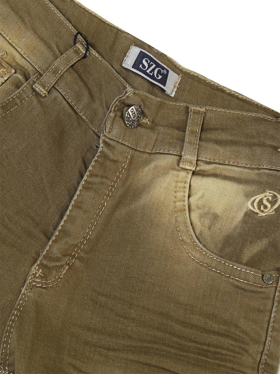 Брюки джинсовые для мальчика, цвет: фисташковый